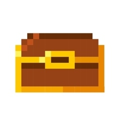 Treasure chest pixelated icon vector
