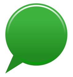 Blank map pin green app icon vector