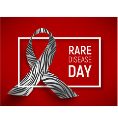 symbol of rare disease day vector image