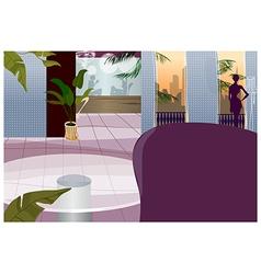 Hotel interior vector
