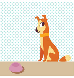 cute pet dog vector image