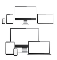 devices with white screens vector image