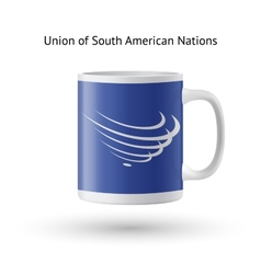 Union of south american nations flag souvenir mug vector