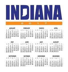 2017 Indiana calendar vector image