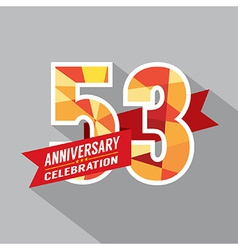 53rd years anniversary celebration design vector