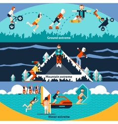 Extreme sports banners vector
