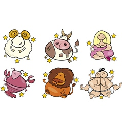 Overweight zodiac signs vector