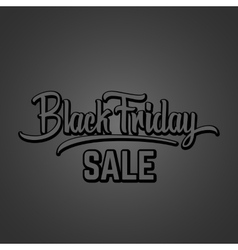 Black friday hand lettering vector