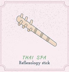 Wooden tool for thai massage vector