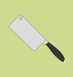 Cleaver knife icon vector