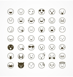 Set of emoticons emoji isolated vector image