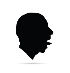 Man head art silhouette vector