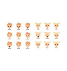 Kids emoji face vector image