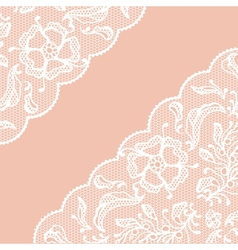 Vintage lace frame ornamental flowers texture vector
