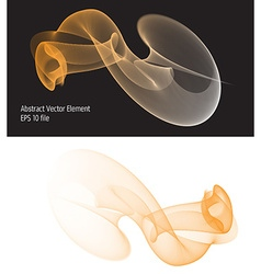 Abstract isolated wave element vector image