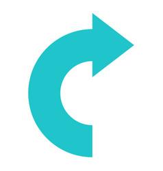 arrow sign undo left right down up icon vector image
