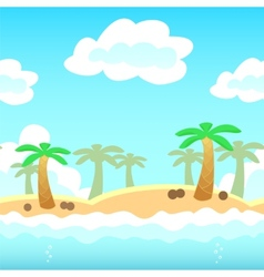 Beach game background vector