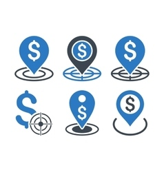 Business goal flat icons vector