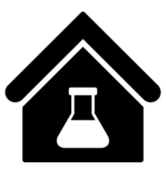 Chemical labs building flat icon vector