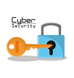 Cyber secuirty padlock key protection data access vector