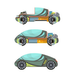 Electro cars set vector