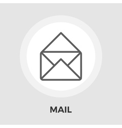Envelope flat icon vector image vector image