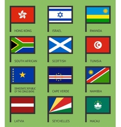 Flags flat set-10 vector