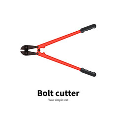 Flat icon of a bolt cutter vector