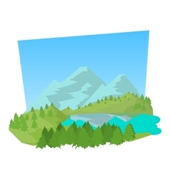 Forest icon cartoon style vector