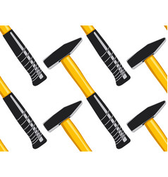 Hammer seamless pattern vector