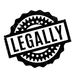 Legally rubber stamp vector