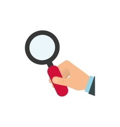 Lupe hand search magnifying glass icon vector