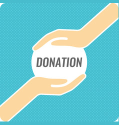 Modern linear poster for donations vector