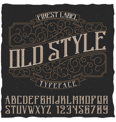 old style poster vector image
