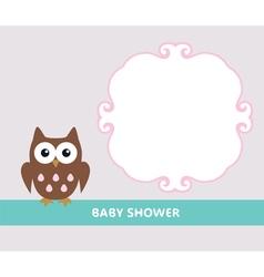 owl baby vector image
