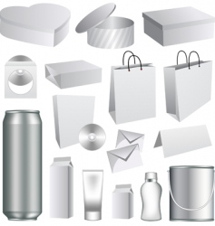 packaging templates vector image