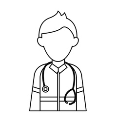Paramedic character uniform stethoscope kit first vector