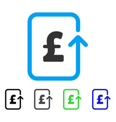 Reverse pound transaction flat icon vector