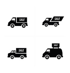 Sale car icons set vector