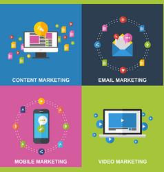 Set of marketing design concepts vector