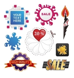 set of sale design elements vector image vector image