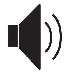 Speaker icon volume icon speaker icon on white vector