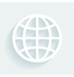 Symbol globe made of paper vector image