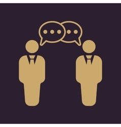 The negotiations icon debate and dialog vector