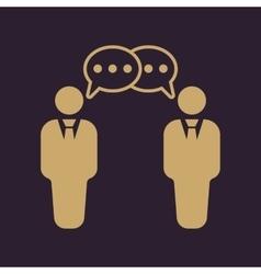 The negotiations icon debate and dialog vector