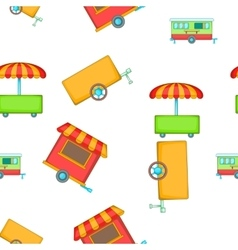 Transport of food sales pattern cartoon style vector