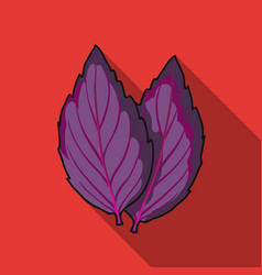 Violet basil icon in flat style isolated on white vector