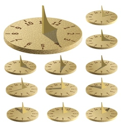 Sundial measure time by the sun vector