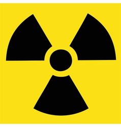 Caution radiation danger vector