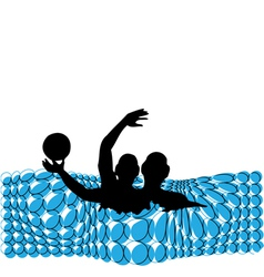 Men playing in the pool vector